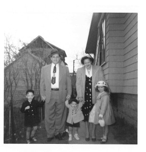 The family complete, about 1955