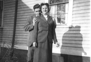 Norman and Dorothy while courting, about 1948
