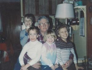 Norman and grandchildren