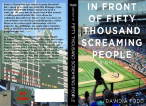 "Here's the print book cover for ""In Front of Fifty Thousand Screaming People"". I want the ""Headshots"" to be as good as this, which was a cover I did based on the e-book cover my son did."