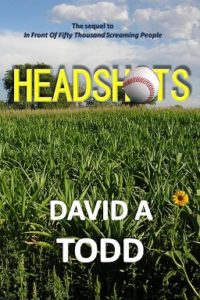 "Here's the e-book cover for ""Headshots"". I wanted to improve the font some, and, of course, add the spine and back cover, making it all the right size in the right place at a good quality."