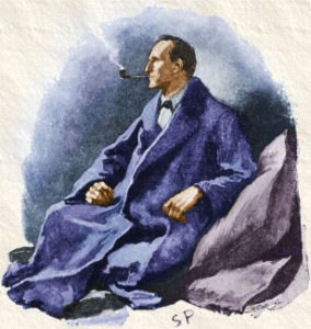 An original Sherlock Homes illustration, by Sidney Paget.