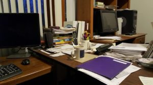 Perhaps I should have spent time cleaning my work area, which is en-route to non-functional.