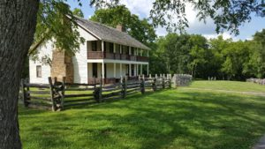The Elkhorn Tavern was a strategic objective during the two day battle, which involved close to 30,000 combatants.