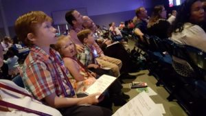 Worshipping with 25,000 others Sunday morning at Nazarene General Assembly