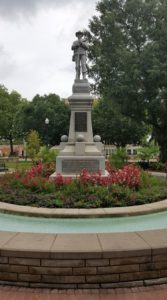 The Confederate monument on the square in downtown Bentonville