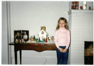 Again, from 1987: our daughter and the house display.