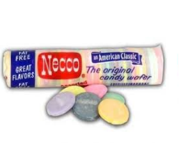 It is very hard to find Necco Wafers in stores around here. We have a stash we bought in R.I. years ago, begging to be put on a candy house.